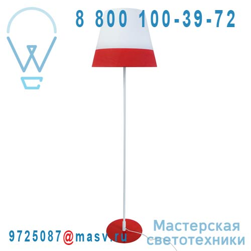 CS-FL027 RD Lampadaire Blanc/Rouge - MILANO Martinelli Luce