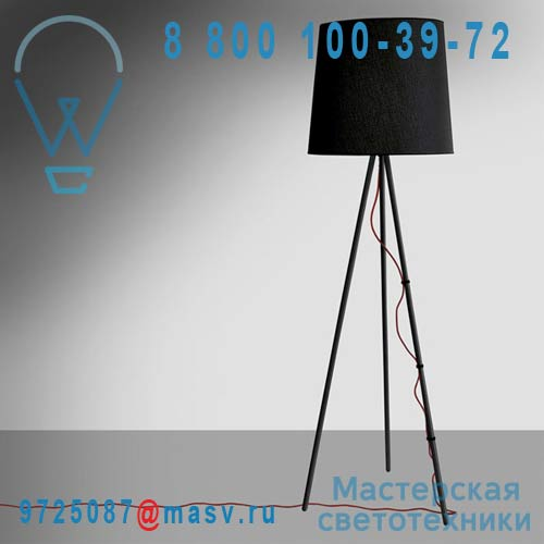 2270/NE/NE (2 COLIS) Lampadaire Noir/Noir - EVA Martinelli Luce