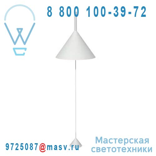 V04014 5201 Lampadaire Blanc - FUNNEL Vertigo Bird