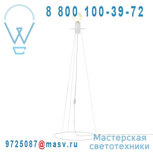 280002 Blanc brillant Lampadaire Blanc brillant 120cm - CERCLES adonde