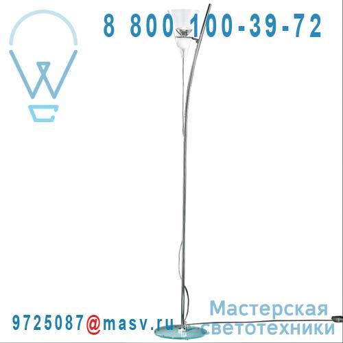 0GEMM0R15 Lampadaire Transparent boule blanche - GEMMA de Majo