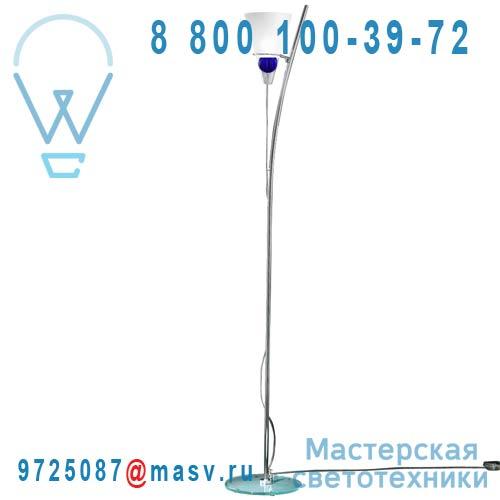 0GEMM0R09 boule bleue Lampadaire Transparent sable boule bleue - GEMMA de Majo