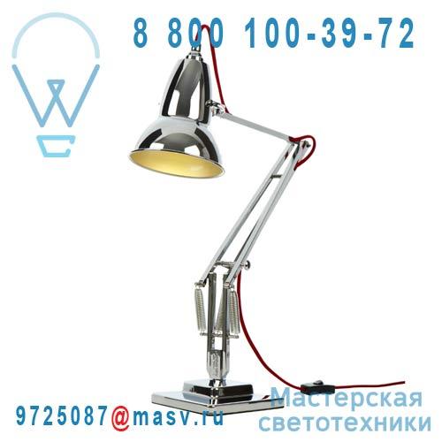 30952 Lampe de bureau Chrome fil Rouge - DUO 1227 Anglepoise