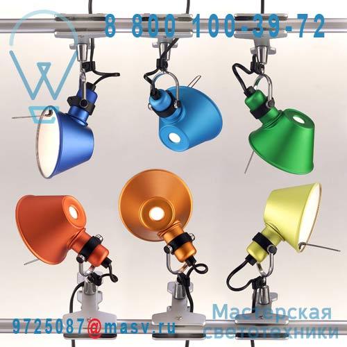 A010880 Lampe a pince Micro Vert - TOLOMEO Artemide