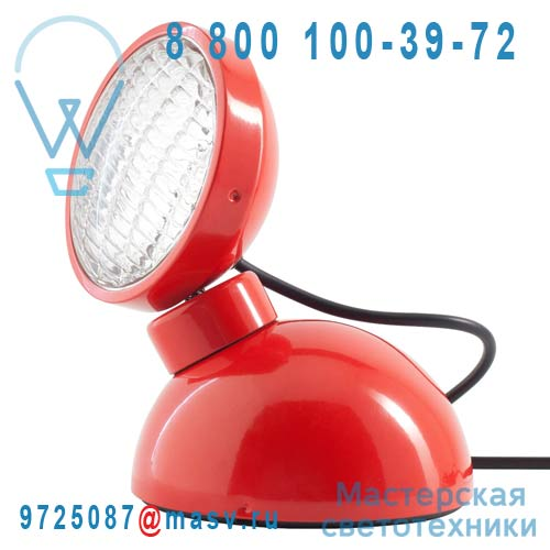 10214 Lampe a poser Rouge Brillant - 1969 Azimut Industries
