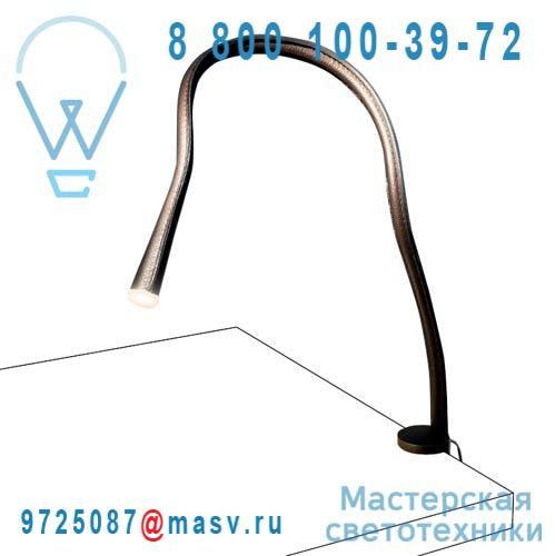 ACAM.000333 Lampe a pince 90 Cuir Chocolat - FLEXILED Contardi