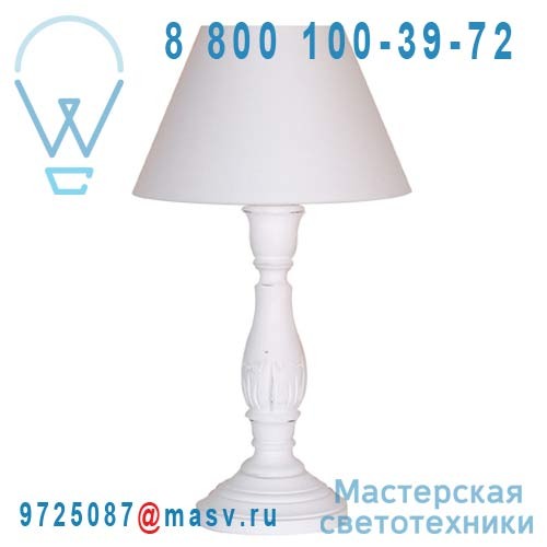89175 Blanc Lampe a poser Blanc - LARA Corep