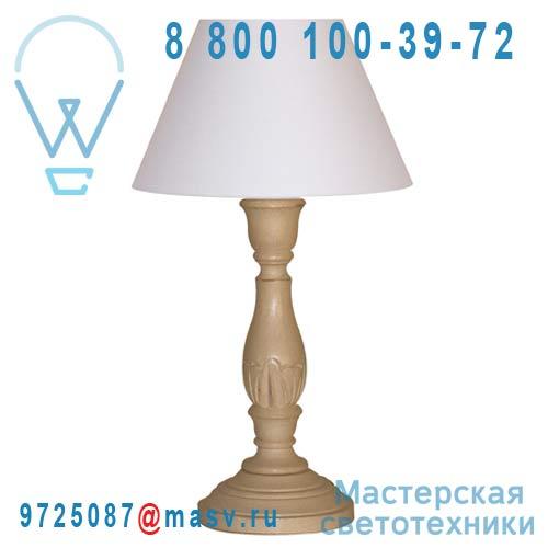 89175 Taupe Lampe a poser Taupe - LARA Corep