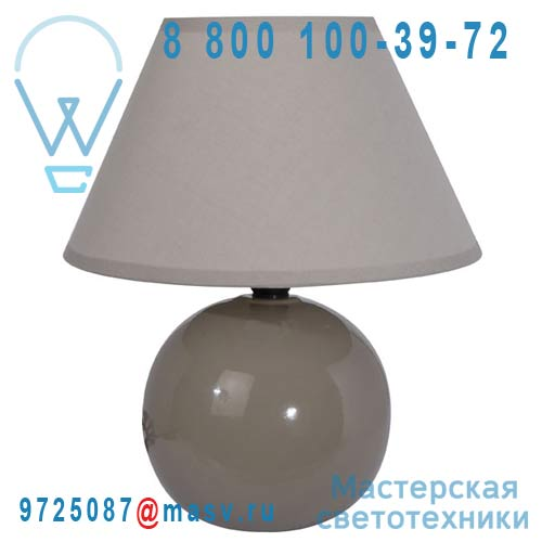 40013 Taupe Lampe a poser Taupe - MINI LOU Corep