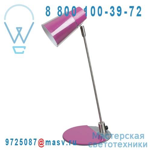 A0365 FUSCHIA Lampe de Bureau Inox/Fuschia - OSLO Corep