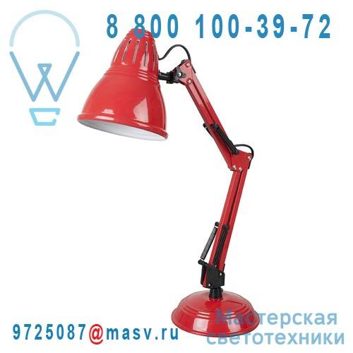 A0375 ROUGE Lampe de Bureau Rouge - ARCHIMEDE Corep