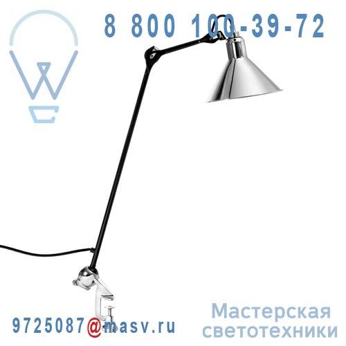 201 BL-CH Lampe de bureau a etau Chrome & Noir - N°201 DCW Editions