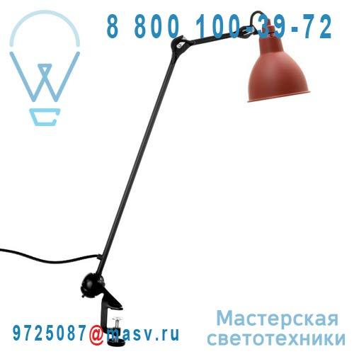 N°201 BL-RED ROUND Lampe de bureau a etau Rouge & Noir - N°201 DCW Editions