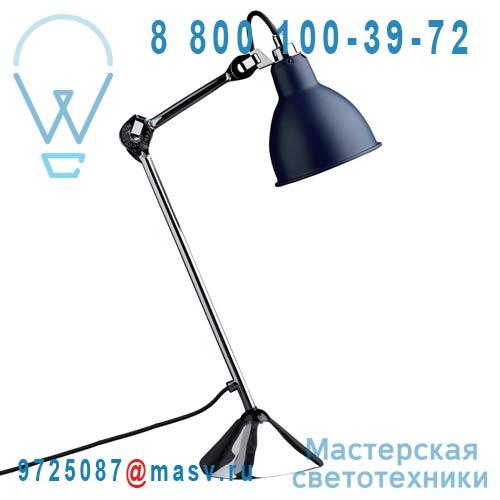205 CH-BLUE Lampe de bureau Bleu & Chrome - N°205 DCW Editions
