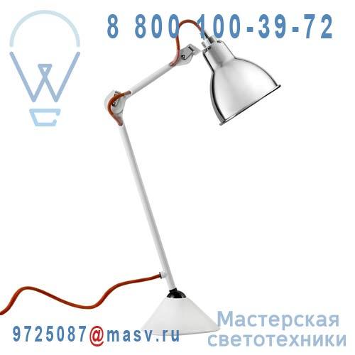205 WH CH Lampe de bureau Chrome & Blanc - N°205 DCW Editions