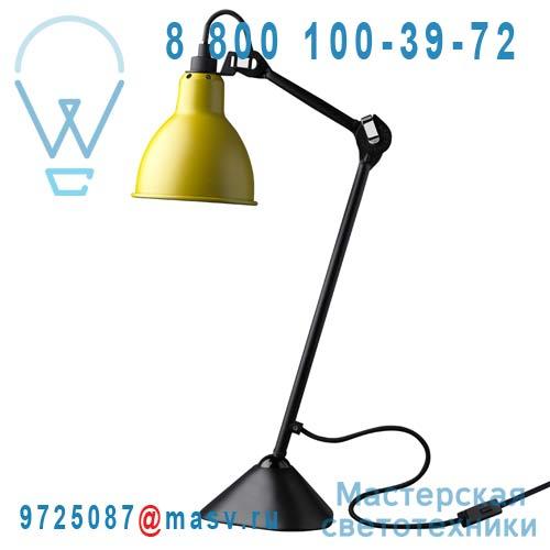 205 BL-YELLOW Lampe de bureau Jaune & Noir - N°205 DCW Editions