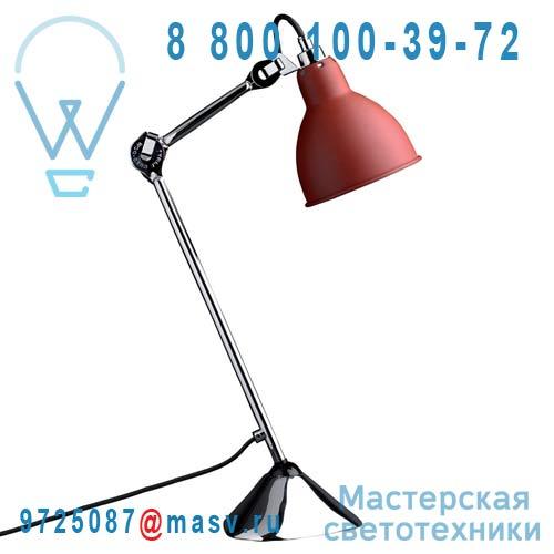205 CH-RED Lampe de bureau Rouge & Chrome - N°205 DCW Editions