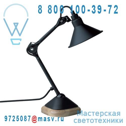 207 BL-SAT 2colis (207BL + SHA 207 BLACK) Lampe de bureau Noir - N°207 DCW Editions