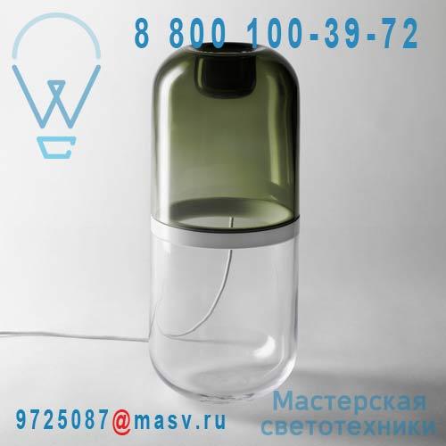 2061-0018 Lampe a poser LED L Vert & Transparent - DEMI Design Stockholm House