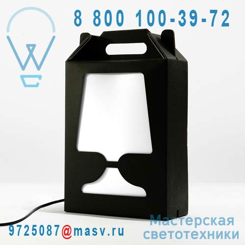 DC201G Lampe a poser Noir/Blanc - FLAMP DesignCode