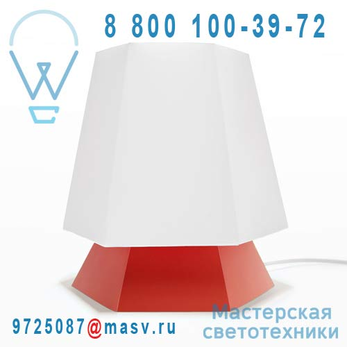 DC290A Lampe a poser Blanc/Rouge - NONA DesignCode