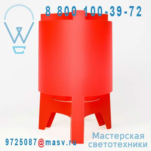 DC232A Lampe a poser Rouge - ORBIT DesignCode