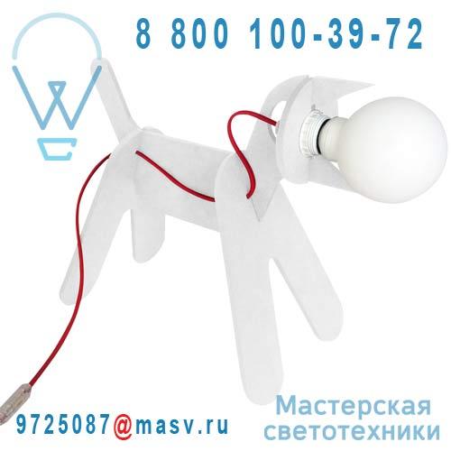 CJ01SA001080 Lampe a poser Chien Blanc - GET OUT ENO Studio