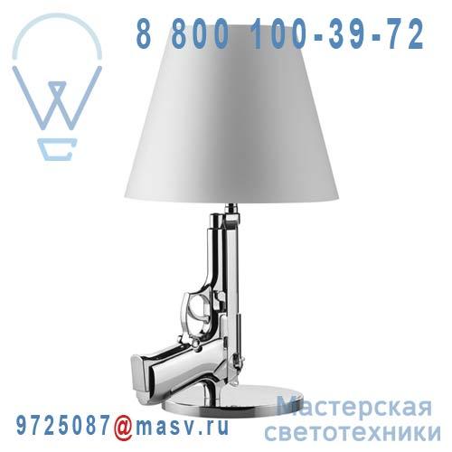 F2953057 Lampe a poser Chrome - BEDSIDE GUN FLOS