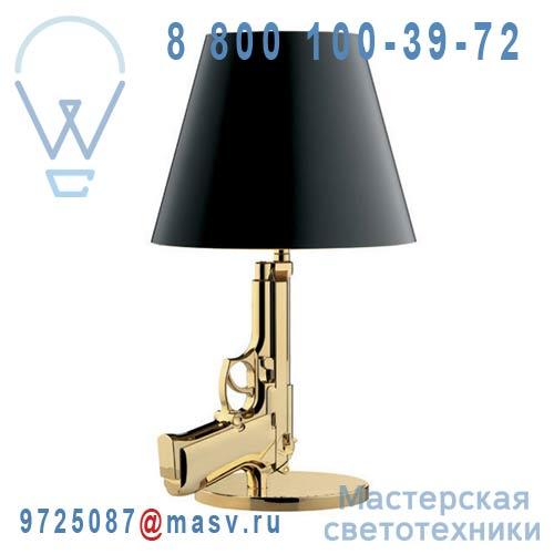 F2953000 ( 2 colis : F2960030 + F2970044) Lampe a poser Or & Noir - BEDSIDE GUN FLOS