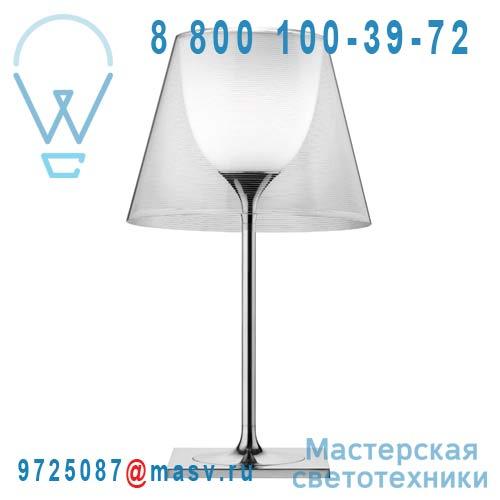 F6303000 Lampe a poser XL Chrome & Transparent - KTRIBE T2 FLOS