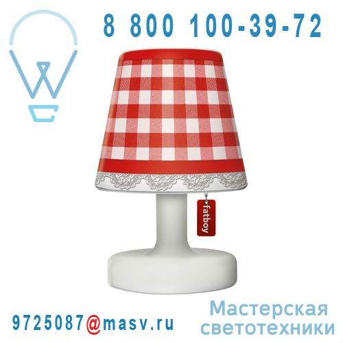 EDISON THE PETIT + 900.4313 Lampe a poser + Abat-jour Copper Cappie Plaid Rouge - EDISON THE PET
