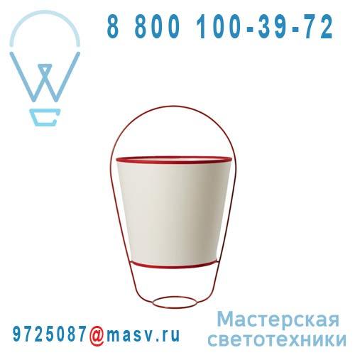 SB14131RD Lampe Blanc/Rouge - BUCKET Forestier
