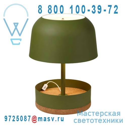 AL11130LGR Lampe Vert - HODGE PODGE USB Forestier