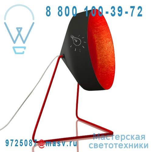 IN-ES070016N-R Lampe a poser Noir/Rouge - CYRCUS LAVAGNA In-es Artdesign