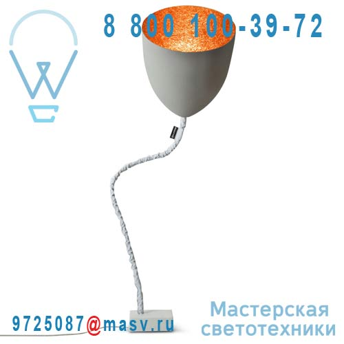 IN-ES070014G-A Lampe de sol Gris/Orange - FLOWER CIMENTO In-es Artdesign