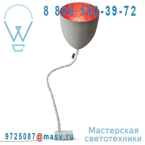 IN-ES070014G-R Lampe de sol Gris/Rouge - FLOWER CIMENTO In-es Artdesign