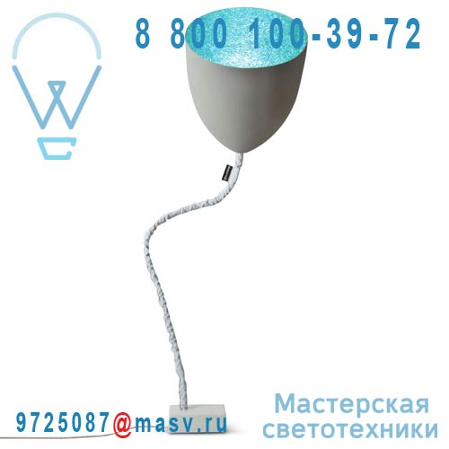 IN-ES070014G-T Lampe de sol Gris/Turquoise - FLOWER CIMENTO In-es Artdesign
