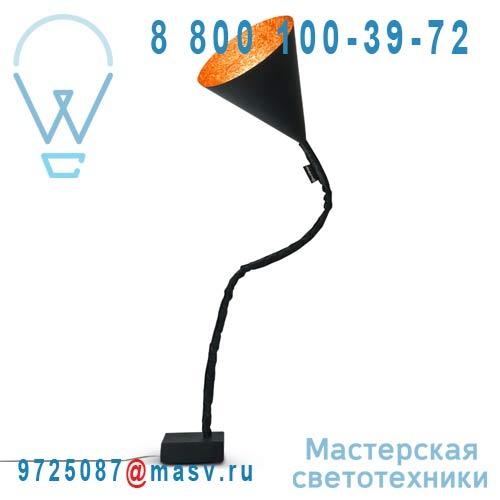 IN-ES070015N-A Lampe de sol Noir/Orange - FLOWER LAVAGNA In-es Artdesign