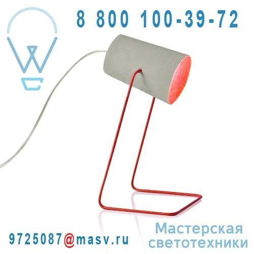 IN-ES060014G-R Lampe a poser Gris/Rouge - PAINT CIMENTO In-es Artdesign