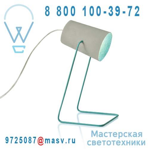 IN-ES060014G-T Lampe a poser Gris/Turquoise - PAINT CIMENTO In-es Artdesign