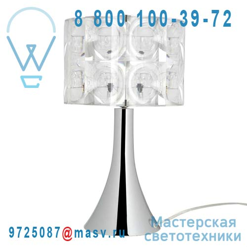 SL02911000 + BT0221103 Lampe a poser Chrome - LIGHTHOUSE Innermost