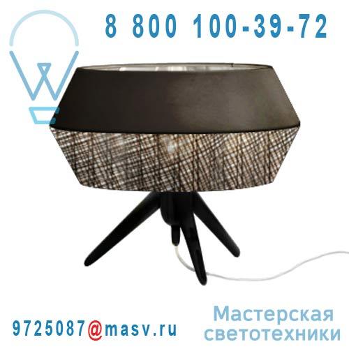 M666ND Lampe a poser Marron/Noir - TWIST Koziol