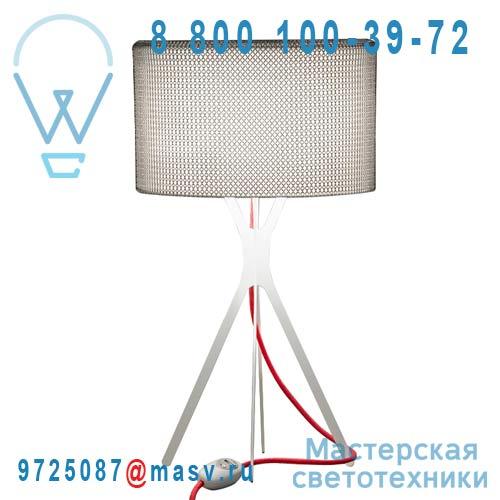 0LTXE.BAA.S600.010 fil rouge Lampe Cotte de maille fil rouge L - EASY Le Labo Design