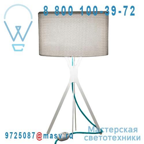 0LTXE.BAA.S600.010 fil turquoise Lampe Cotte de maille fil turquoise L - EASY Le Labo Design