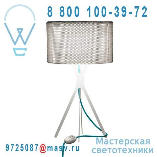 0LTXE.BAA.S450.010 fil turquoise Lampe Cotte de maille fil turquoise S - EASY Le Labo Design
