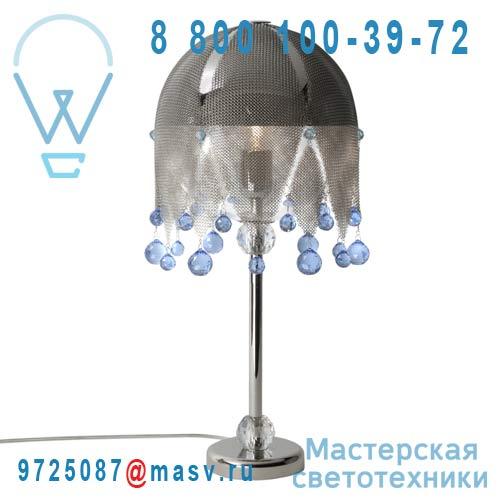 0LDBR.B44.*****250 bleu Lampe a poser cristal Swarovski bleu - MATHILDE OU JUDITH Le Labo Design