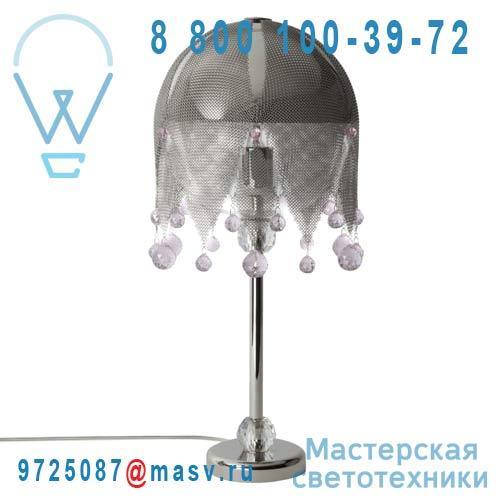 0LDBR.B44.*****250 rose Lampe a poser cristal Swarovski rose - MATHILDE OU JUDITH Le Labo Design