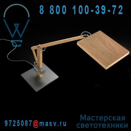 0306067243049 + 0370149370000 Lampe a poser LED Bois - LEVA Leucos