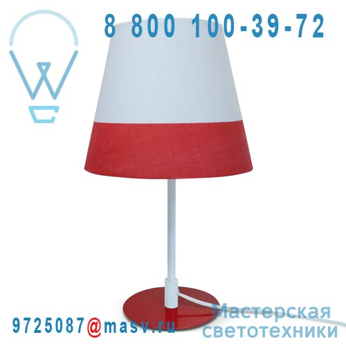 CS-D056 RD Lampe a poser Blanc/Rouge - MILANO Marbella Lighting