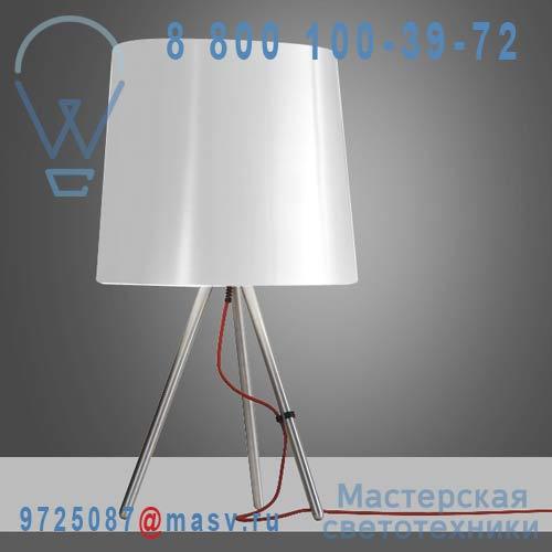 798/BI Lampe a poser M Alu/Blanc - EVA Martinelli Luce